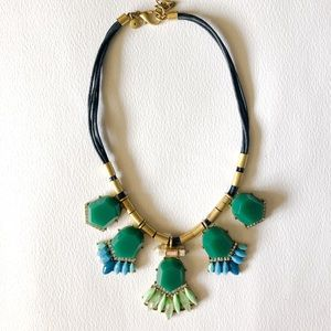 J. Crew multi colored stone Statement Necklace